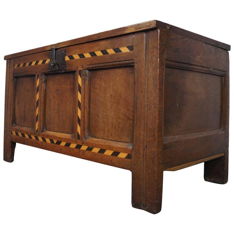 18th Century English Oak Coffer