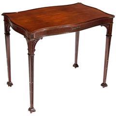Very Fine 19th Century Mahogany Silver Table