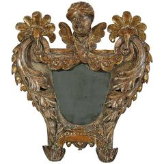 18th Century Italian Baroque Mirror with an Angel