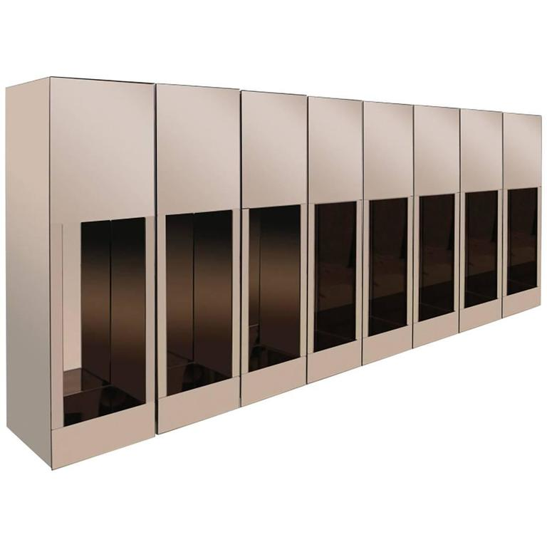 Smoked Mirrored 1970s Pedestals For Sale At 1stdibs
