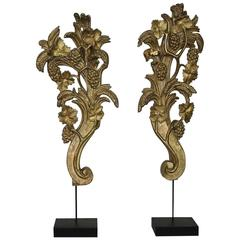 Large 18th Century Italian Giltwood Baroque Ornaments
