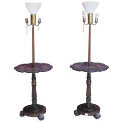 Pair of Chinoiserie Paint Decorated Floor Lamps