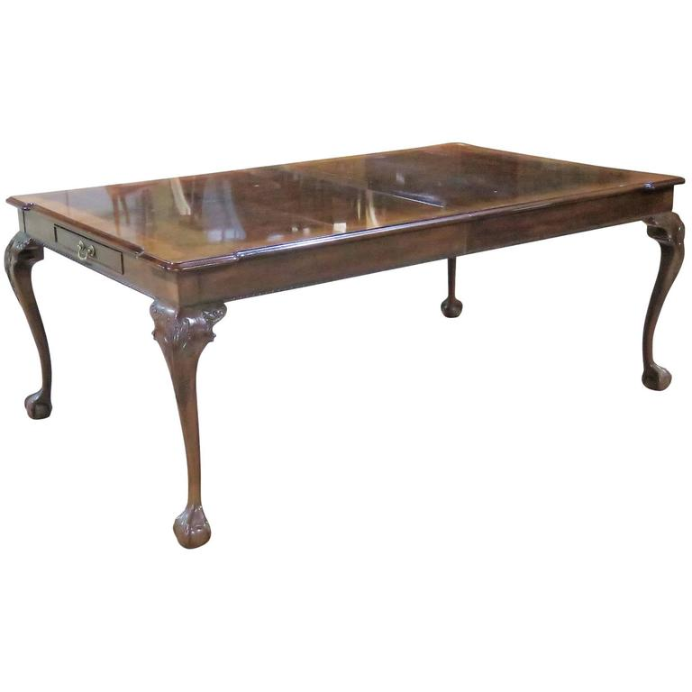 Mahogany Ball and Claw Foot Banded Dining Table For Sale  : 7527213l from www.1stdibs.com size 768 x 768 jpeg 21kB
