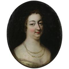 17th Century French Oil Portrait of a Lady