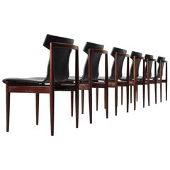 Klingenberg Set of Six Rosewood Dining Chairs for Fristho