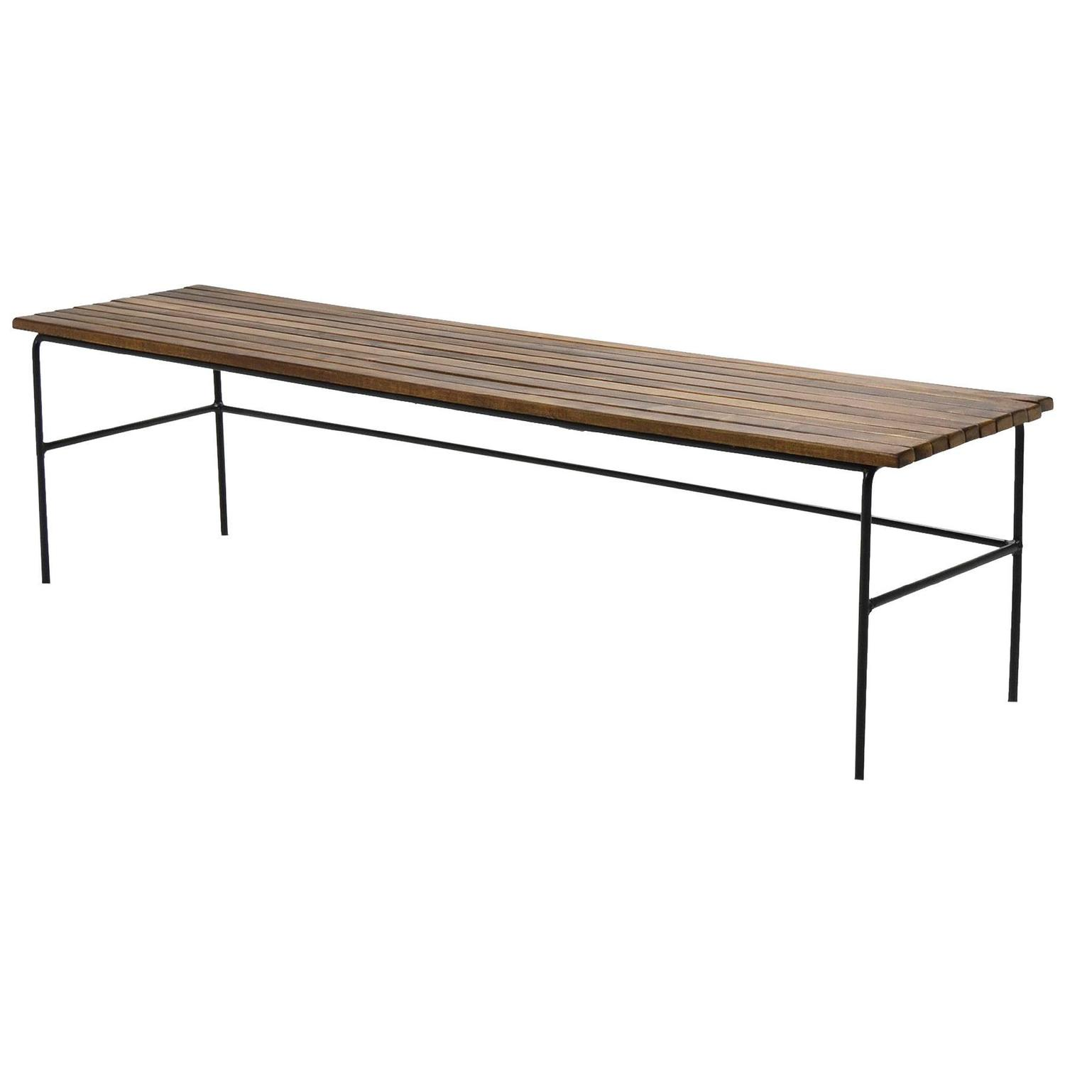 Arthur Umanoff Slat Bench Table at 1stdibs