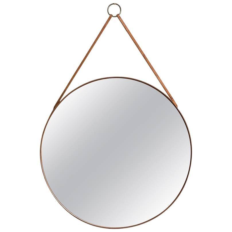 Mirror in Teak Produced by Glass Mäster in Markaryd, Sweden