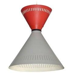 Large Pendant Lamp and Sconce Stilnovo Arteluce Lumi Style Grey Red Black 1950s