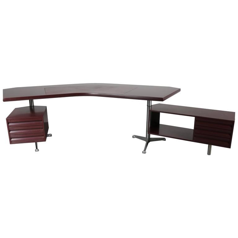 Executive Desk by Osvaldo Borsani for Tecno Milano, Italy, 1950s