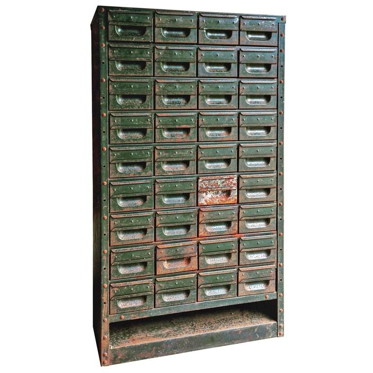 industrial metal cabinet industrial steel chest cabinet mid century 36 drawers loft 17835