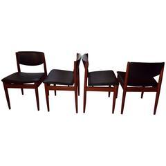 Dining Chairs by Finn Juhl for France and Son Teak Frames Model 197