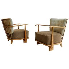 Rare Pair of Organic Armchairs by Theo Ruth for Artifort, Early 1950s