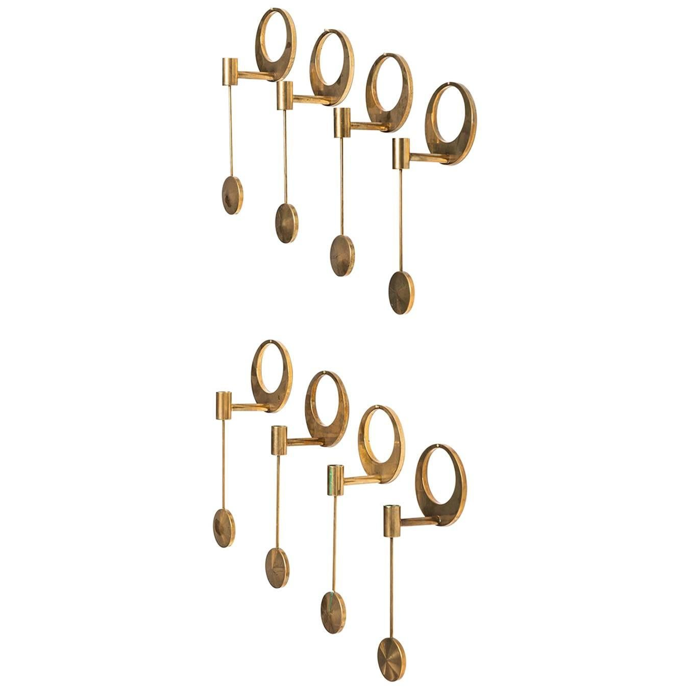 Arthur Pe Wall Hanged Candlesticks by Kolbäck in Sweden