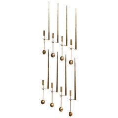 Pierre Forsell Wall Hanged Candlesticks by Skultuna in Sweden