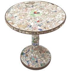 """Pedestal Table """"Pique-Assiette"""", France, 1940s"""