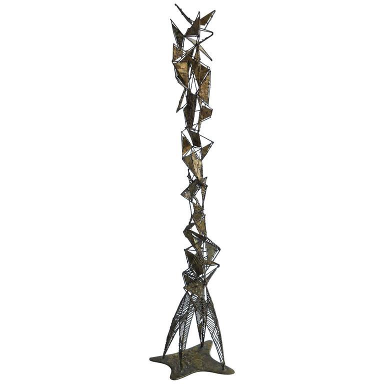 Mid-Century Abstract Metal Sculpture by Edgar Britton