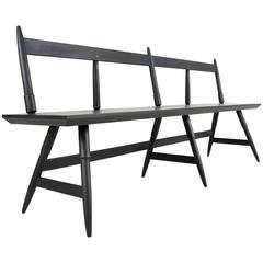 Rockport Bench in Seasoned Black with Brass, Custom-Made by Studio Dunn