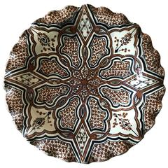 Moroccan Ceramic Charger or Bowl