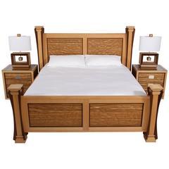 Custom Ambient Wave Bedroom Set in Zebrawood, 2015