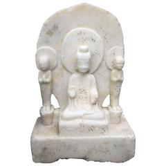 Serene Lovely Faced Guanyin from Chinese Antique Marble Garden Collection