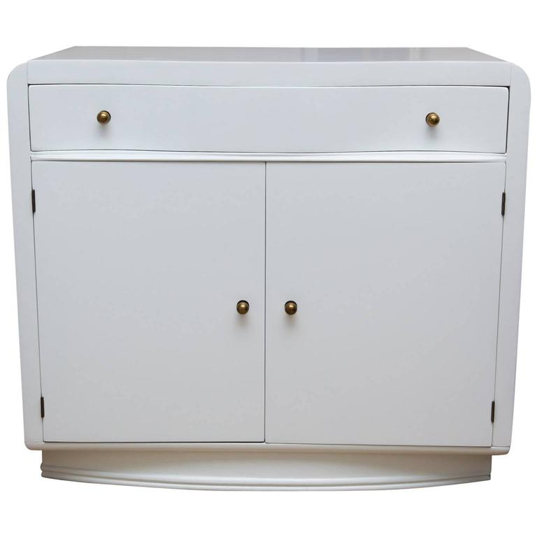 Lacquered Mid-Century Two-Door Cabinet