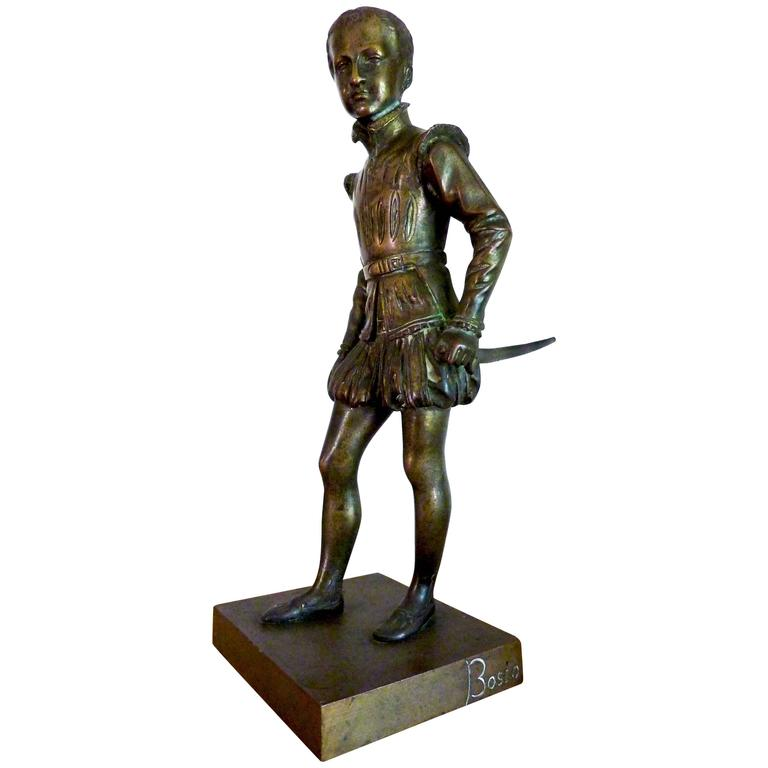 Bronze Sculpture of Young Henri IV by Bosio, France, 19th Century For Sale