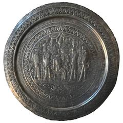 Assyrian Revival Silver Tray