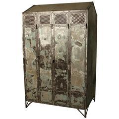 Antique Pre-War Steel Locker