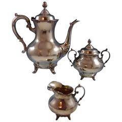 Tara by Reed & Barton Sterling Silver Coffee Set, Three-Piece, #820, Hollowware