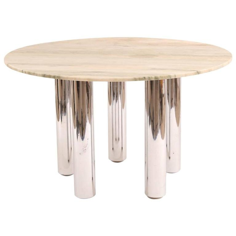 Marco zanuso for zanotta marble dining table for sale at for Table zanotta