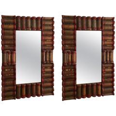 Pair of Spool Mirrors
