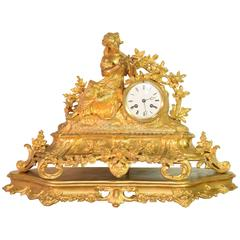 French Clock Set Created in the 19th Century