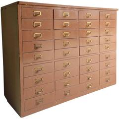 Mid-Century Haberdashery Chest of Drawers 36 Industrial Style