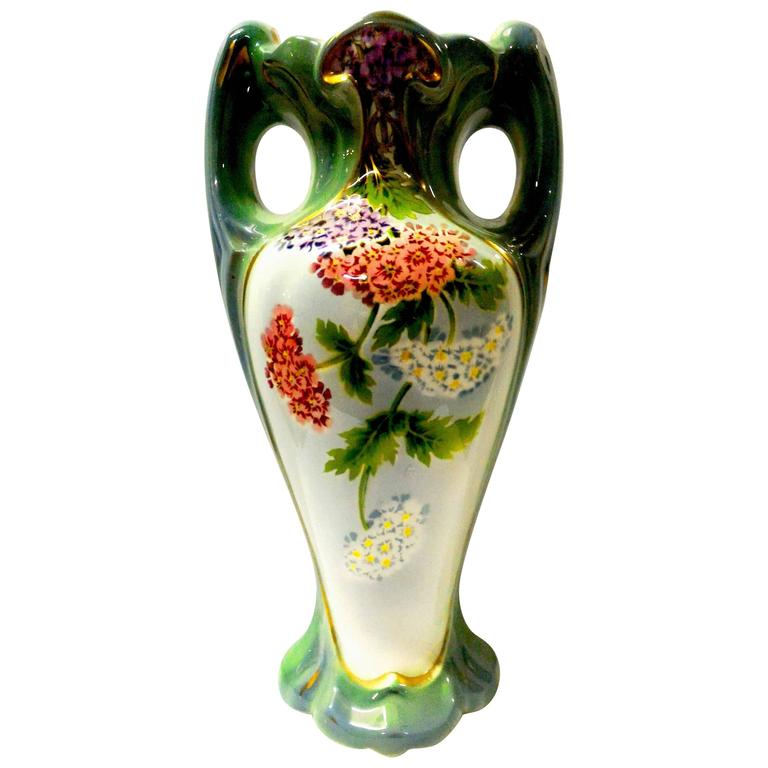 French Art Nouveau Vase Signed by St Amand