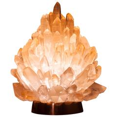 Unique Natural Rose Crystal Lighting 'Small Liberty' Demian Quincke