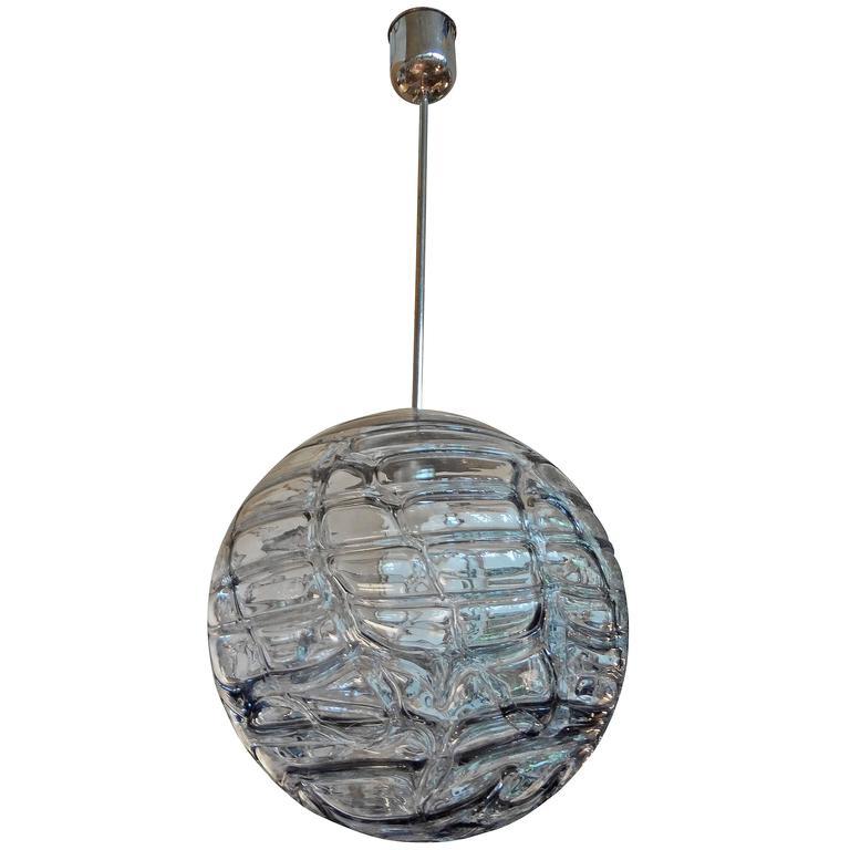 Italian Murano Glass Sphere Chandelier Or Pendant Inspired By Venini
