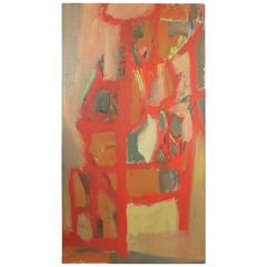 Colorful Large-Scale Abstract Expressionist Oil on Canvas