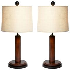 Pair of British Colonial Lamps