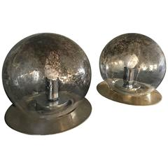 Mid-Century Modern Pair of La Murrina Table Lamps in Brass and Murano Glass