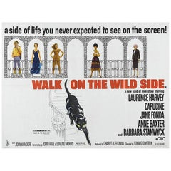 """""""Walk On The Wild Side"""" Film Poster, 1962"""