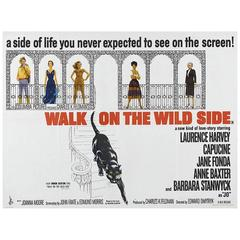 """Walk On The Wild Side"" Film Poster, 1962"