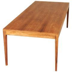 "Long ""Diplomat"" Dining Table in Brazilian Rosewood by Finn Juhl"
