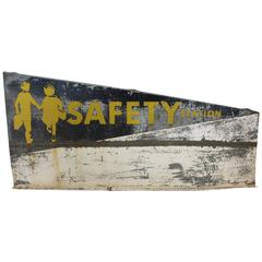 Perfectly Weathered Safety Station Metal Sign