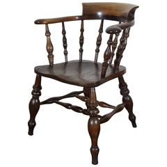 English Turned Chestnut Windsor Chair, 19th Century