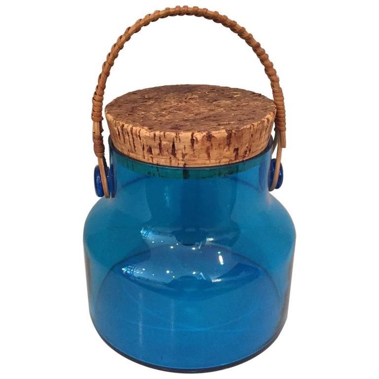 Mid-Century Glass Ice Bucket  1