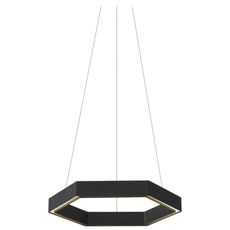 HEX Pendant Light by Resident in Brass, Black or White For Sale