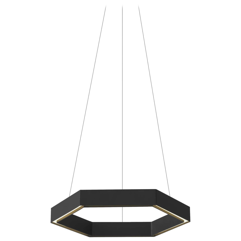 hex pendant light by resident in brass black or white