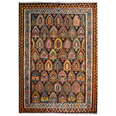 Beautiful Early 20th Century Qazvin Kilim Rug