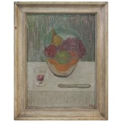 19th Century New England Signed Folk Art Still Life