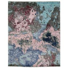 New Contemporary Abstract Area Rug with Post-Modern Expressionist Memphis Style